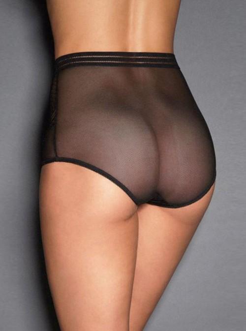 Culotte pin up rétro taille haute |noir, rouge ou violet | Doreen