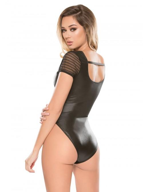 Body wetlook avec rayures | Taylor