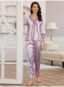 Pyjama satin violet Janna