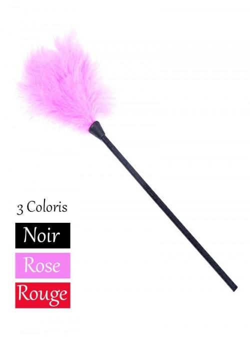 Accessoire Plumeau noir, rouge ou rose