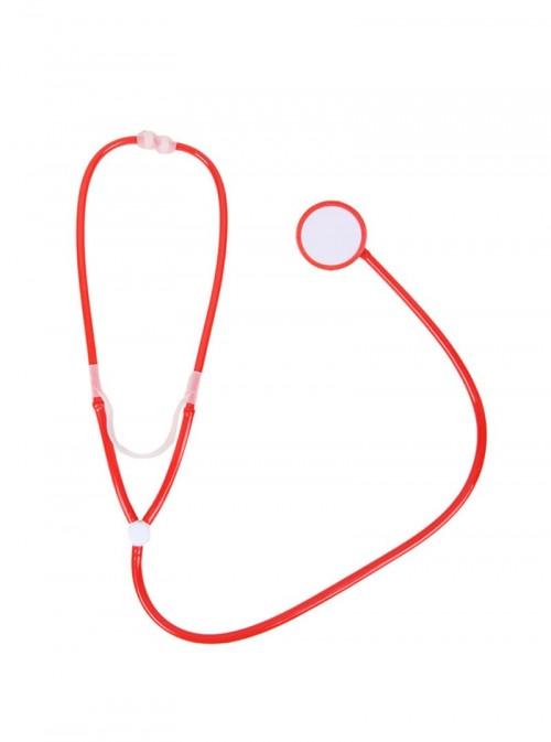 Accessoire stétoscope rouge infirmière