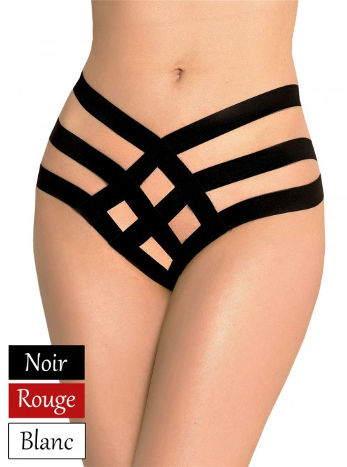 Culotte haute à lanières | blanc, noir ou rouge | Régane